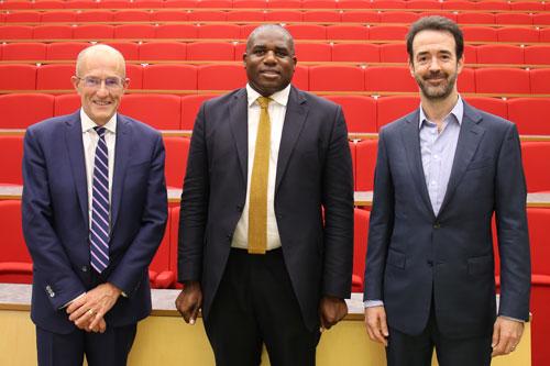 Professor Sir Paul Curran, David Lammy MP and Professor Chris Greer