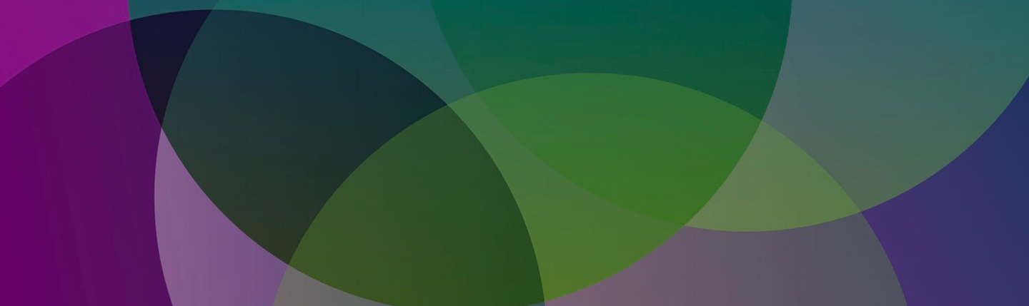 Overlapping green and purple circles