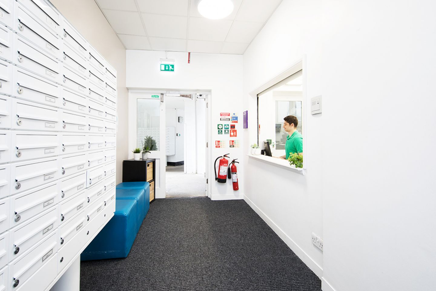 Arbour house reception with parcel lockers
