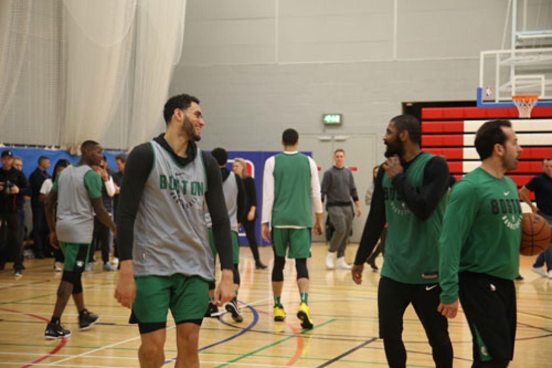Celtics players training