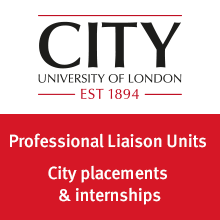 City University of London, Professional Liaison Units. City placements and internships.