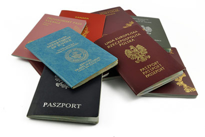 A small selection of various passports