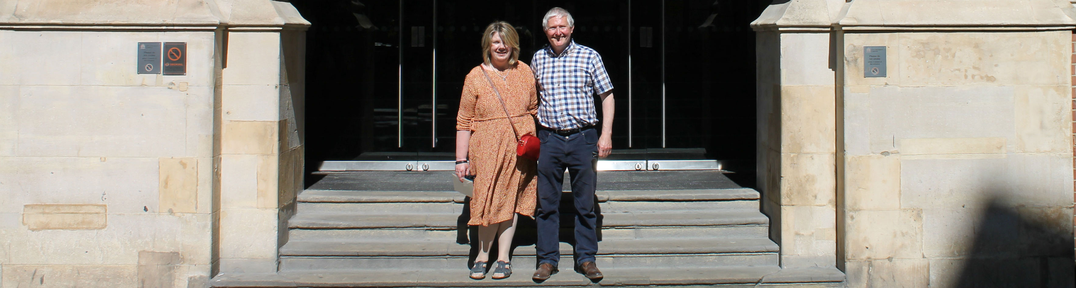 Nigel and Clare, who met at Department of Journalism 35 years ago