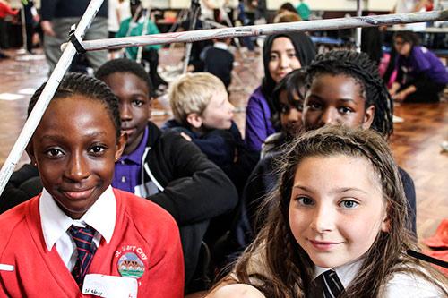 School children in Great Hall