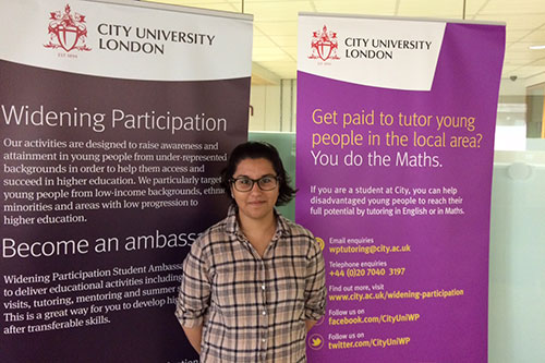 Widening participation tutor Shruti