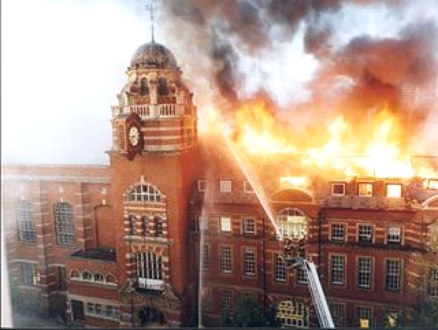The Great Fire, College Building, City University London, May 2001