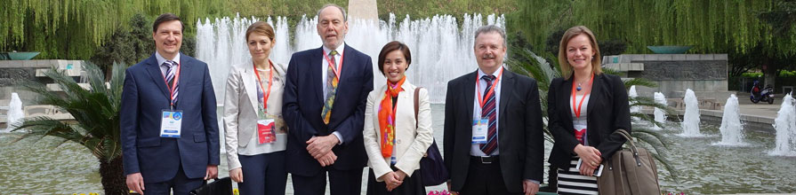 Professor Stanton Newman and other members of the WC2 network at an event in Xi'an