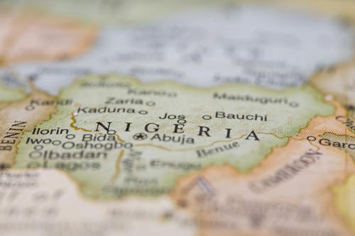 Nigeria on map