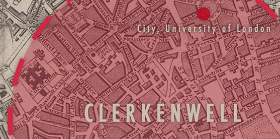 Old map of Clerkenwell