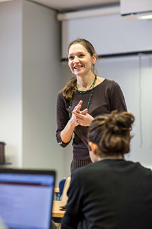Dr Anastasia Nesvetailova talking