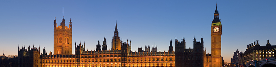 View of the Palace of Westminster including Big Ben