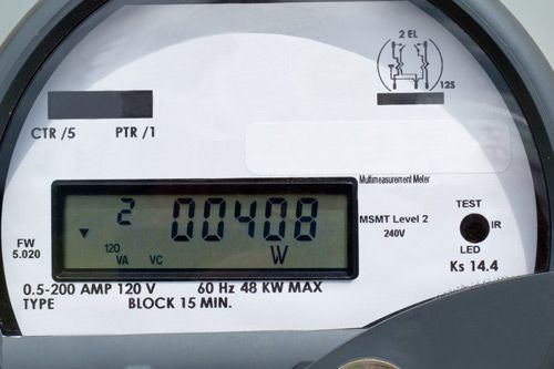 Electricity meter showing '00400
