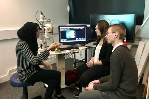 French students visit City optometry