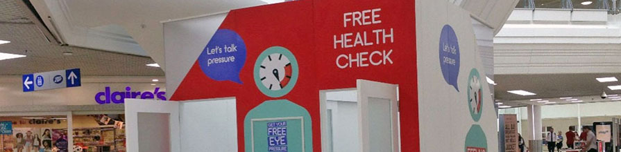 The Crabb Lab's Pop-Up health check station in shopping centre