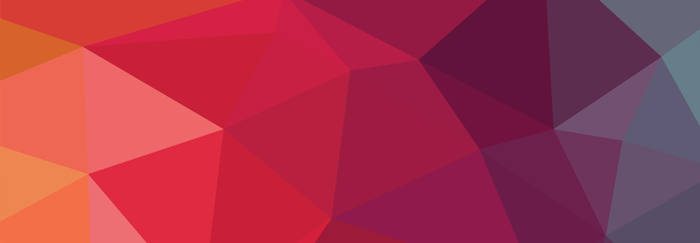 Abstract orange, red and purple triangles connecting