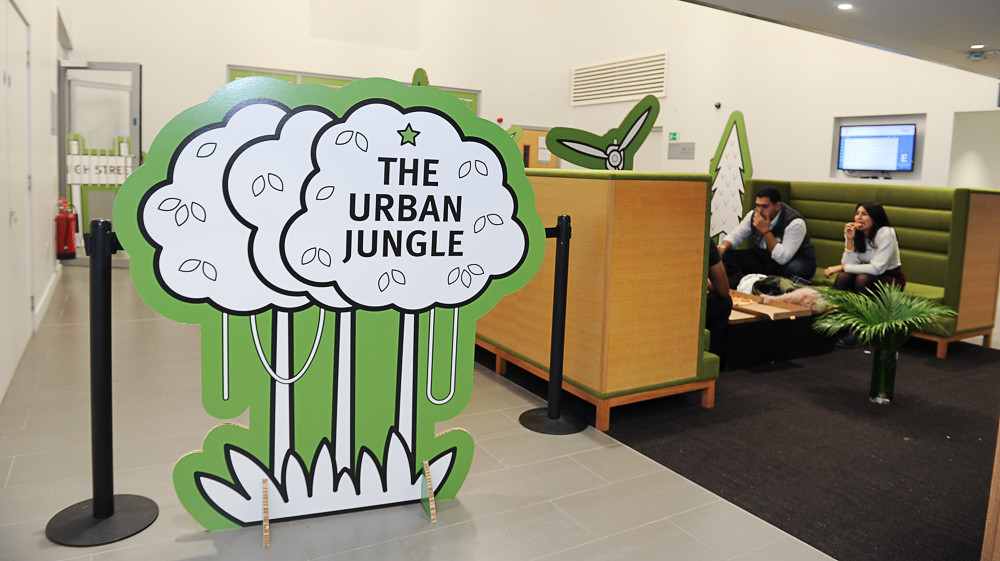 The Urban Jungle sign at City Starters Weekend.