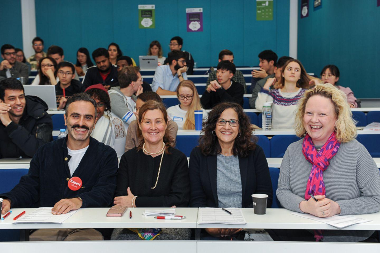 Left to right: Antony Noun, Braegen, Business School MBA Alumni; Dr Stefania Zerbinati, Senior Lecturer in Entrepreneurship; Cllr Asima Shaikh, Executive Member for Inclusive Economy and Jobs and Caroline Wilson, Head of Inclusive Economy.