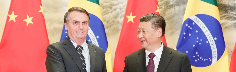Xi Jinping and Jair Bolsonaro