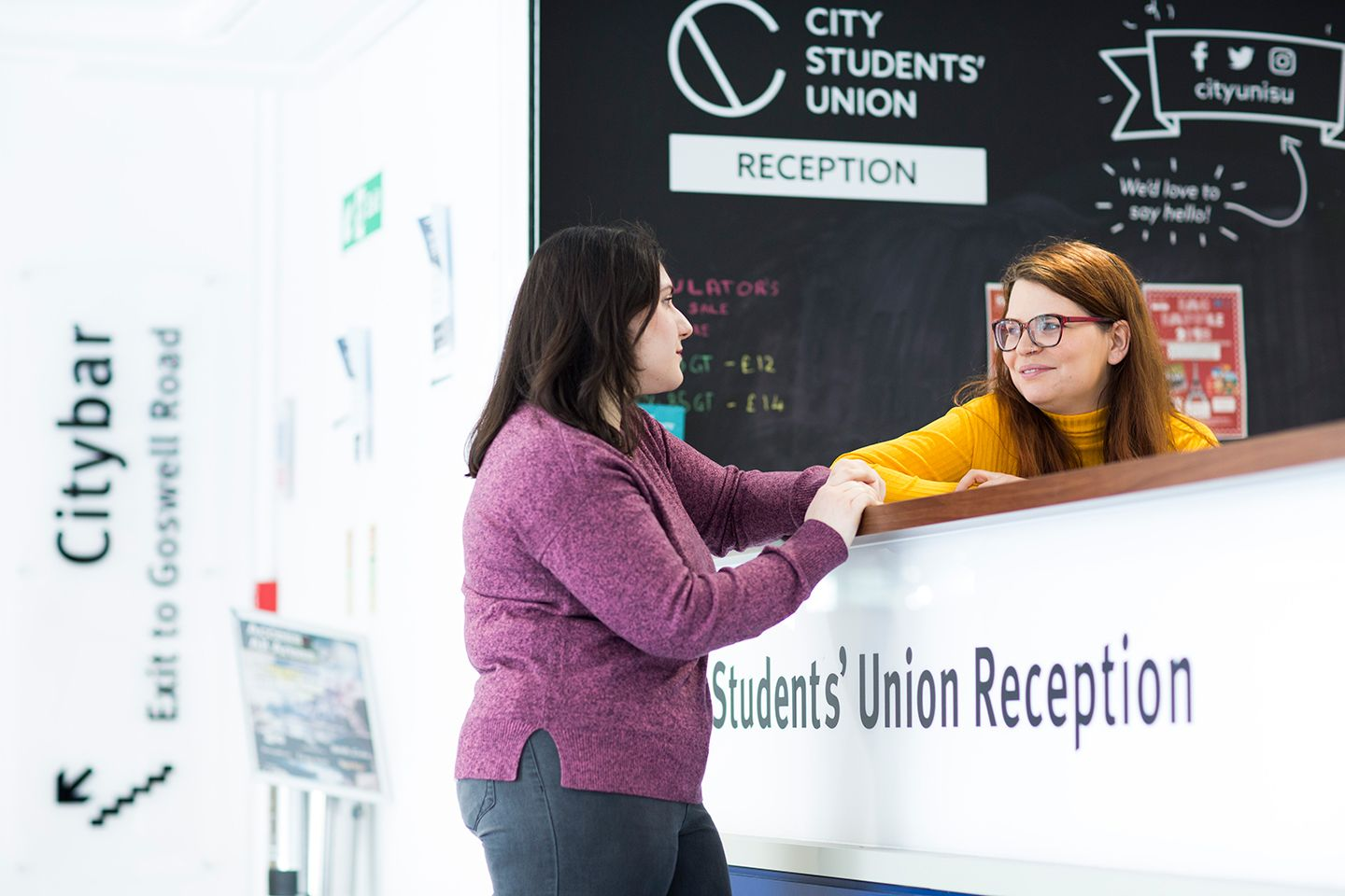 Student at the Students' union reception