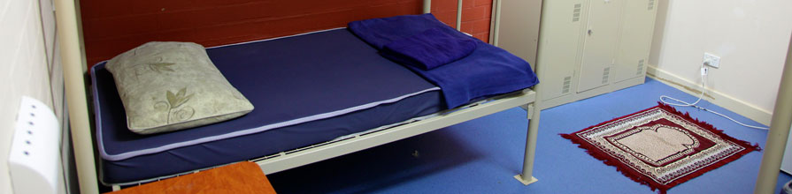 Room in an immigration detention centre