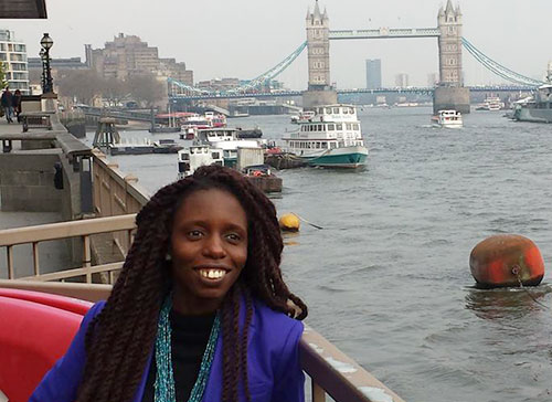 Deborah studied journalism in London but now lives in Kenya