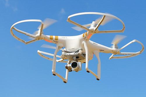 A quadrocopter drone