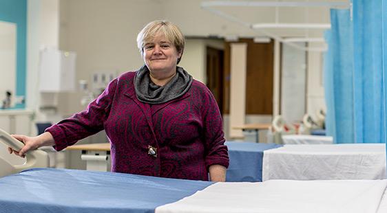 Professor Amanda Burls in City's Clinical Skills Centre