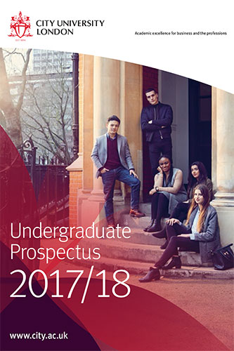 Undergraduate Prospectus cover for 2017/18 academic year