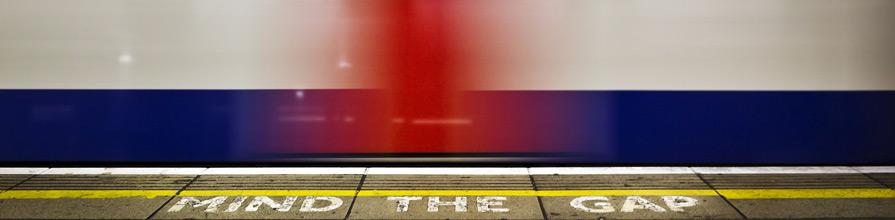 London Tube blurred