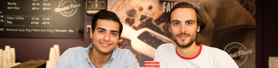 Francois de Vinols and Kourosh Madani, creators of CupTheMarket
