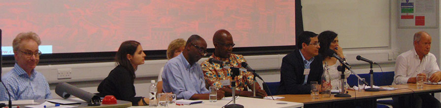 Dr Cecilia Dinardi and panellists at the conference