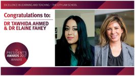 Dr Tawhida Ahmed and Dr Elaine Fahey