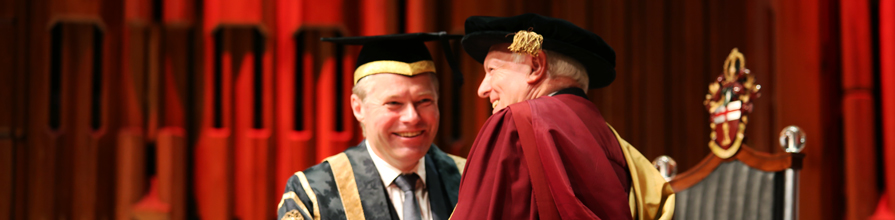 Awarding Wilson - Honorary Graduate