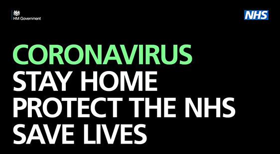 Stay home, protect the NHS, save lives logo