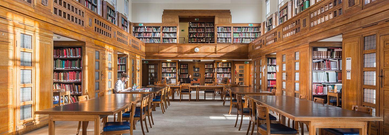 Interior of Senate House library reading room