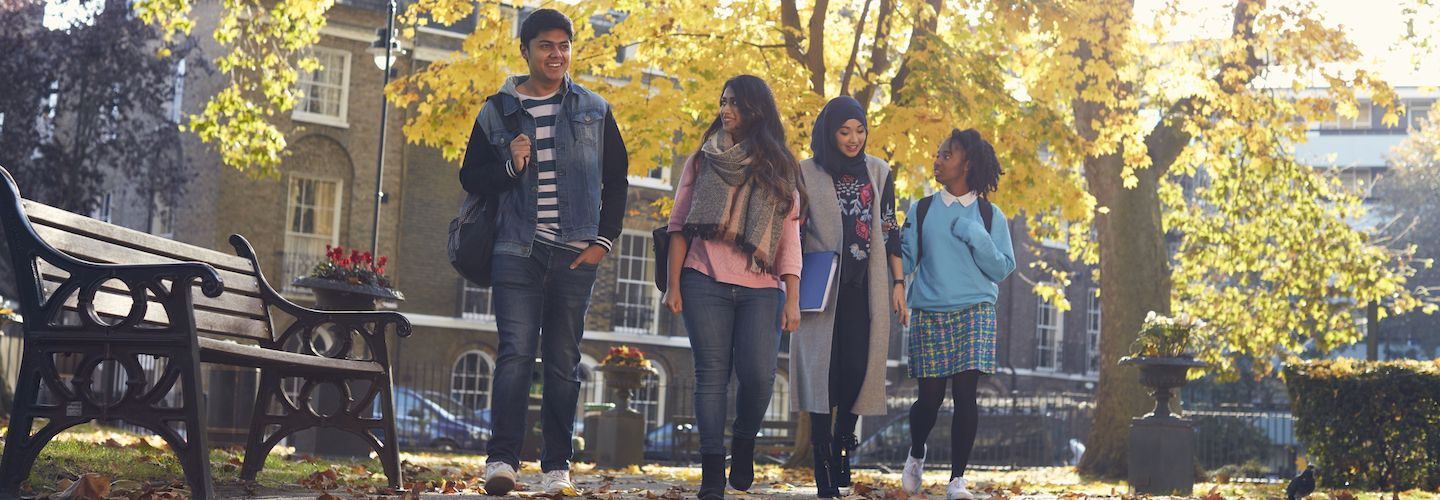 Students in the Northampton Square