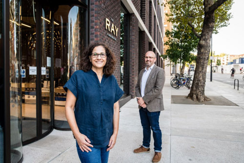 Cllr Asima Shaikh and Alex Elkins, Head of Entrepreneurship