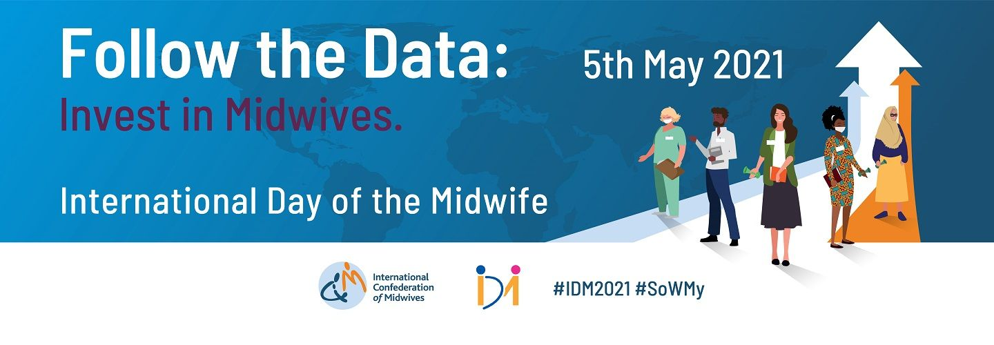 Logo for International Day of the Midwife 2021
