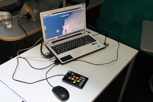 EVA park running on a laptop
