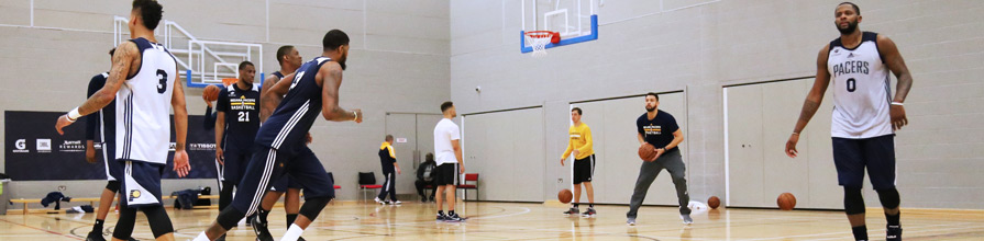 Indianna Pacers training for the NBA game