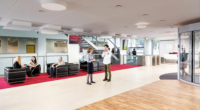 Inside City University London's Social Science Building at Northampton Square