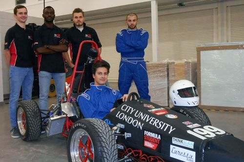 Formula Student team and car