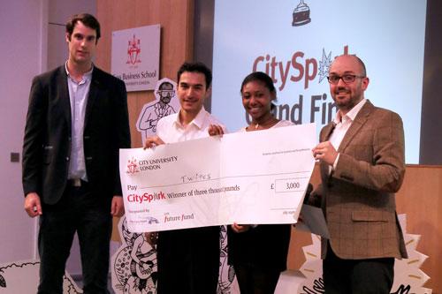 City Spark Twipes accept their award