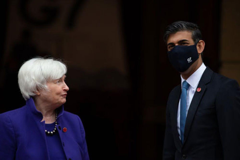 Rishi Sunak and Janet Yellen at the G7 Summit
