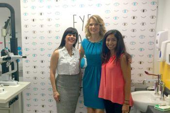 Dr Irene Ctori, Good Morning Britain's Charlotte Hawkins and Clinic Manager of City Sight Roshni Samra
