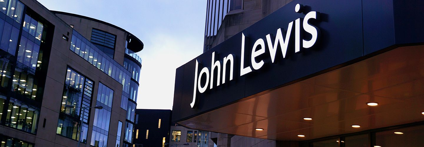 The outside of John Lewis Department store