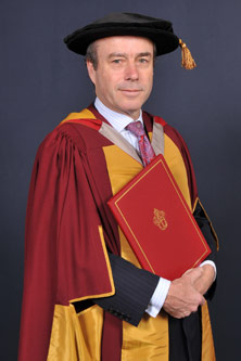 Lionel Barber with degree