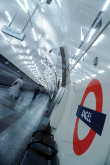 Inside Angel Underground station