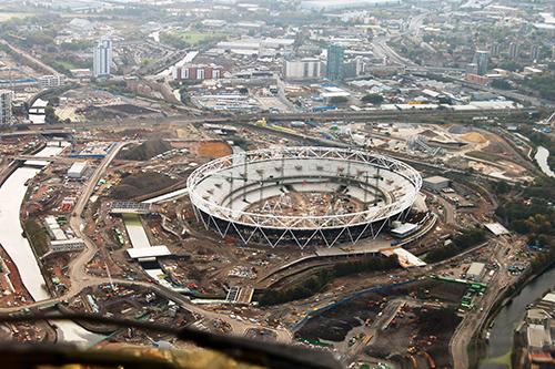 Olympic stadium build