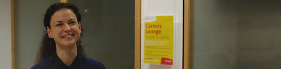 Liudmila Kayukala pictured smiling after completing an internship as part of the Santander Scheme